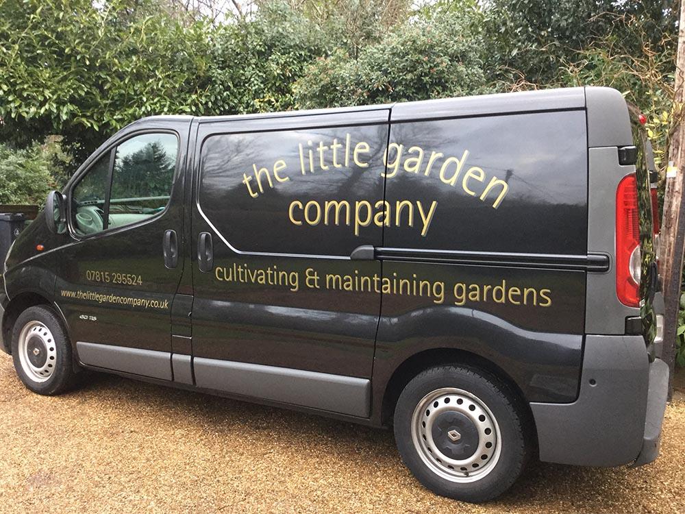 The little garden company camberley area garden design for Garden maintenance van